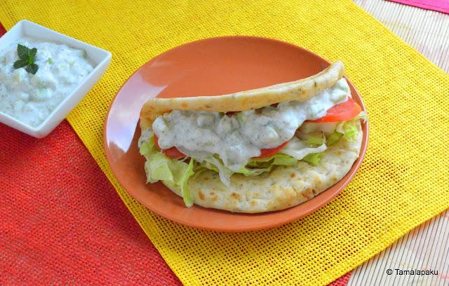Vegetarian Gyro Sandwich