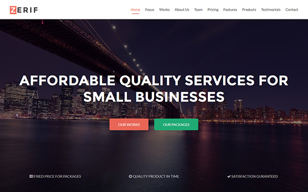 download zerif - responsive one page bootstrap theme
