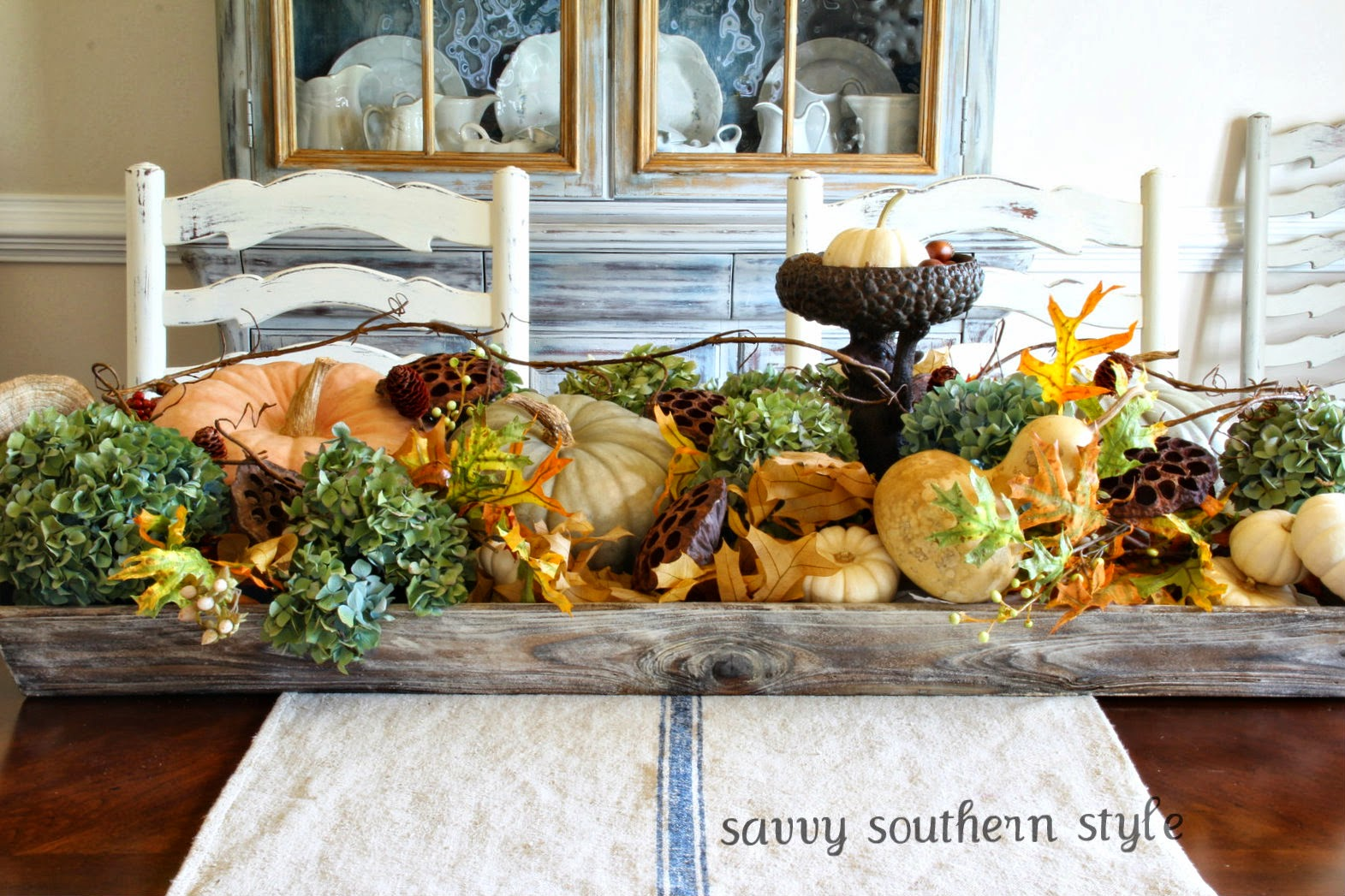 Savvy southern style natural fall centerpiece
