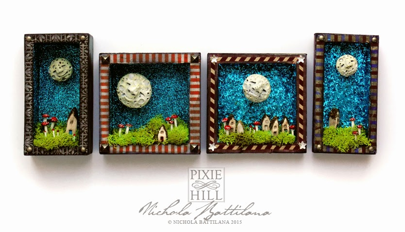 Happy little moon shrines - Nichola Battilana