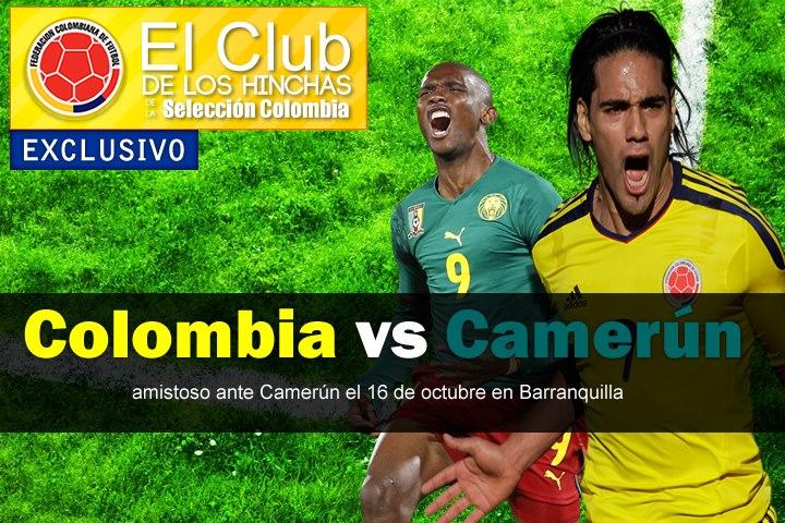 Colombia jugará un amistoso contra Camerún