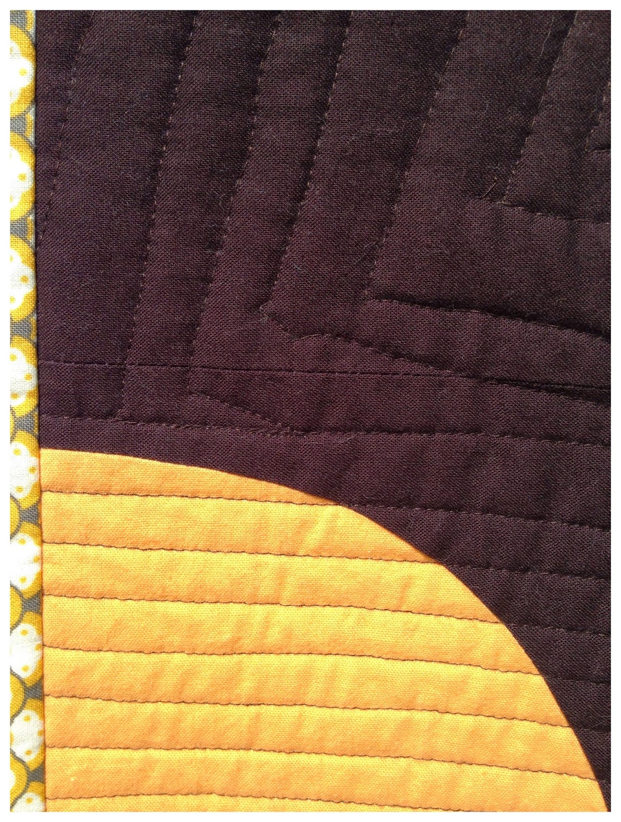curves, walking foot quilting