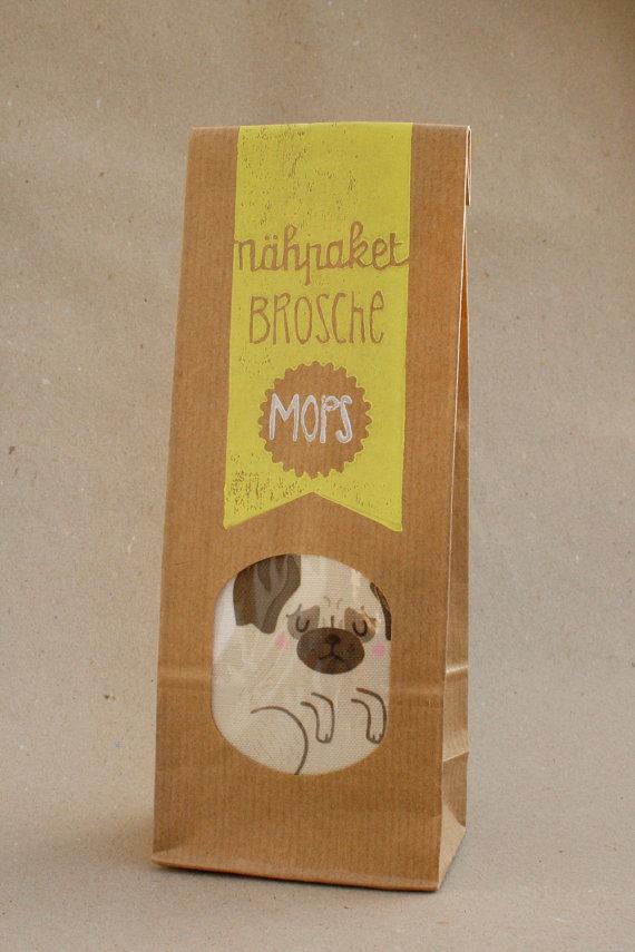 Lieblingsstück der Woche: Nähpaket Brosche Mops