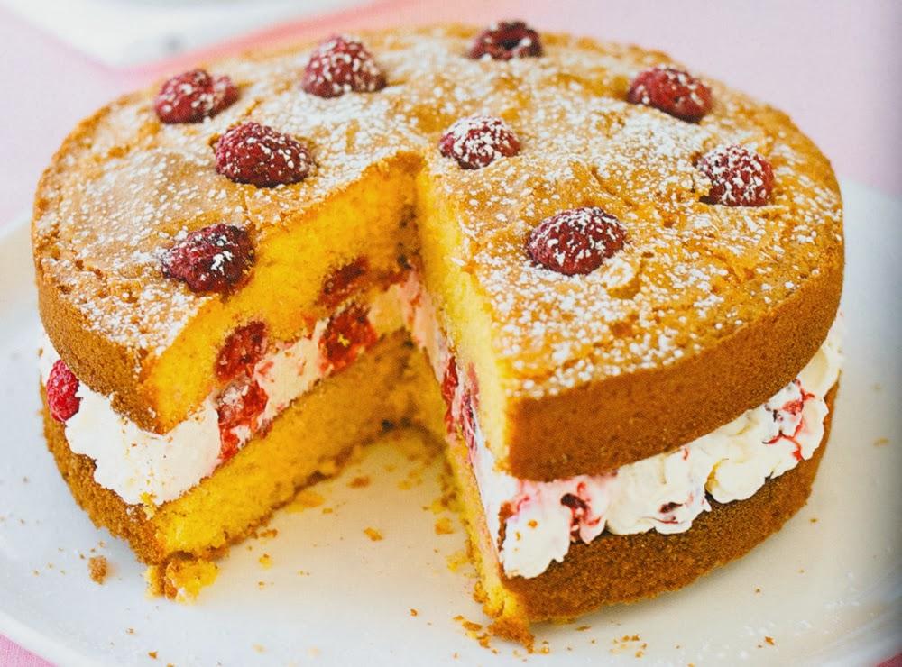 Lemon And Raspberry Polenta Cake