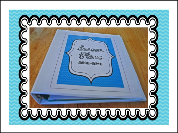 First Grade Fanatics Lesson Plan Notebook Makeover