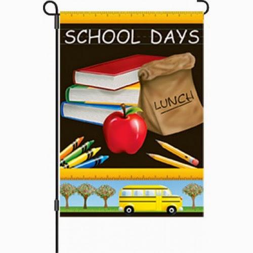 school days garden flag