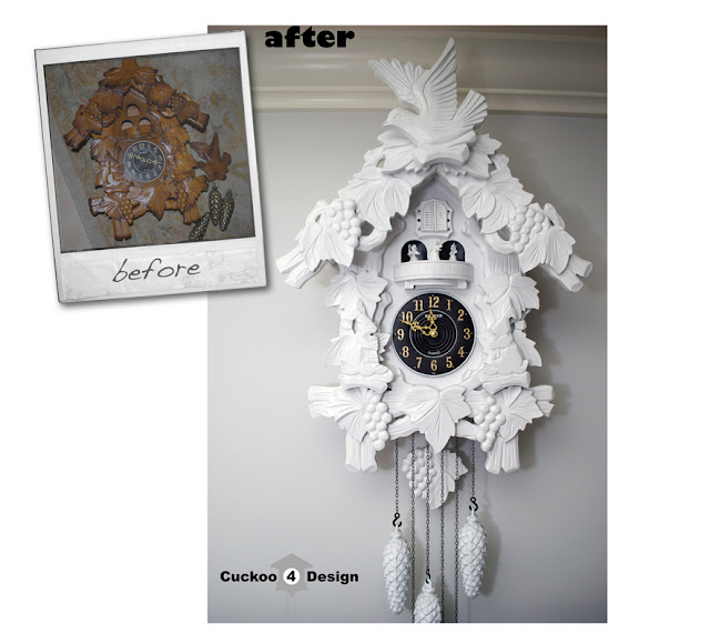 DIY cuckoo clock makeover by cuckoo4design