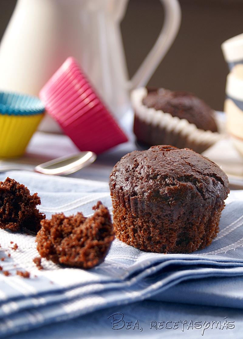 Muffins de chocolate Dan Lepard