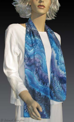 Deborah Younglao Blue Wave silk scarf