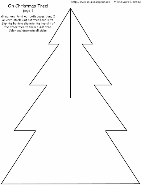 Christmas Tree Cut Out Printables