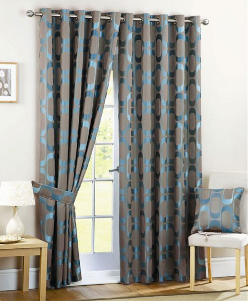 Grey and Teal Bedroom Curtains