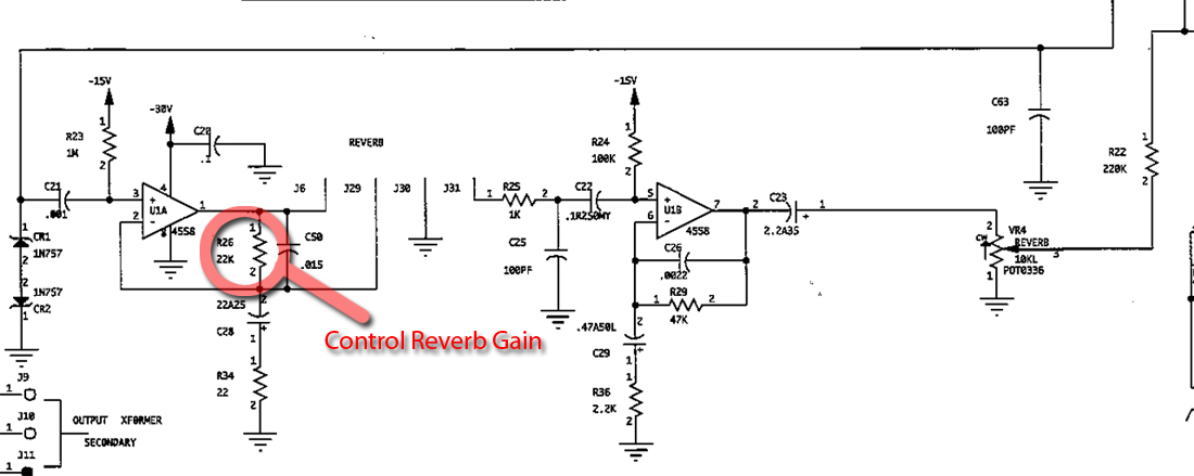 reverb driver schematic