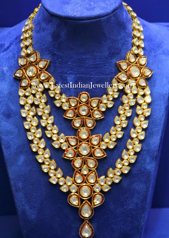 3 Step Kundan Bridal Necklace
