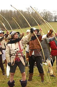 Gratuitous image of English archers. It's what those two fingers are for.