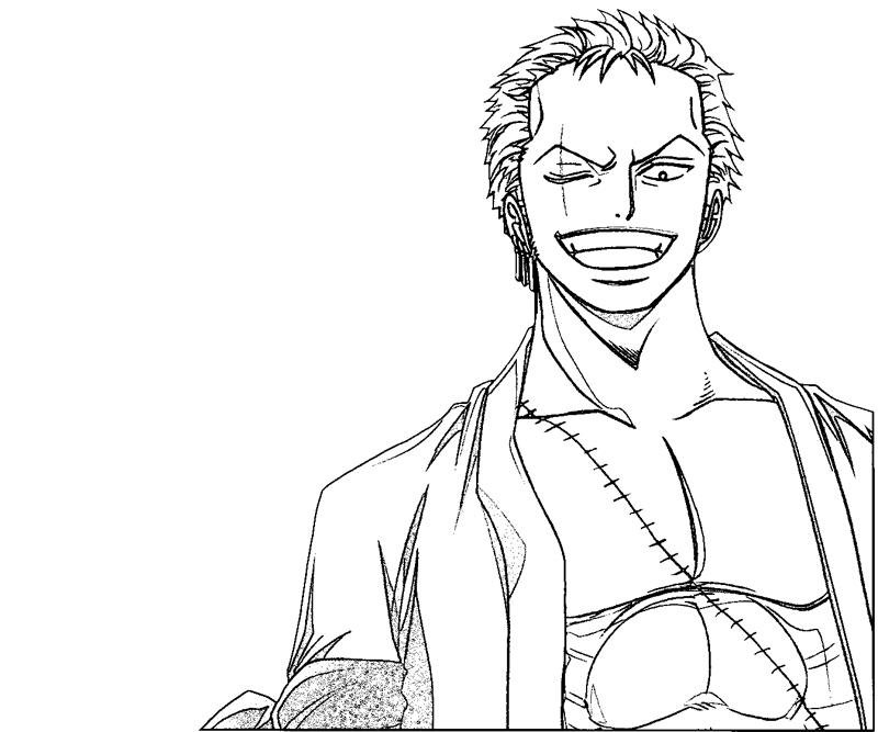 One Piece Coloring Pages Zoro Images