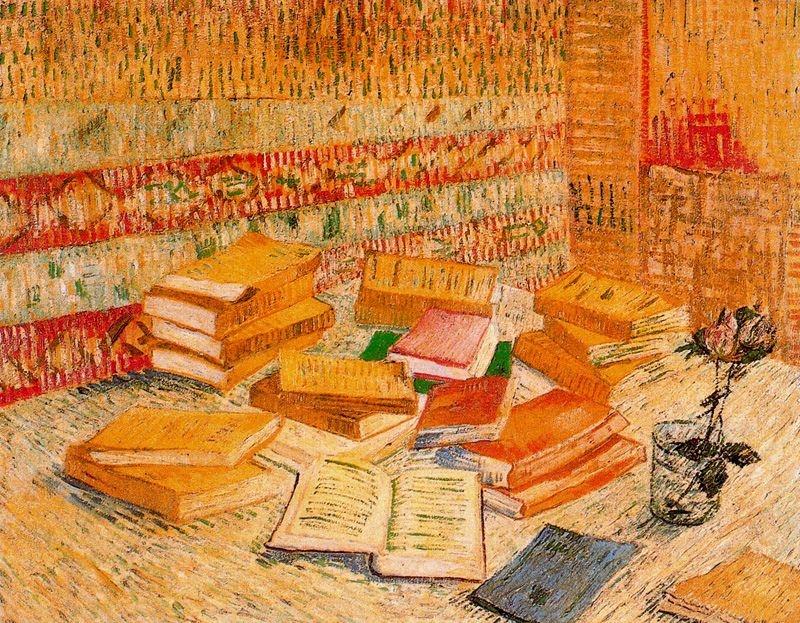 Natura morta amb novel·les franceses i got amb rosa (Vincent Van Gogh)