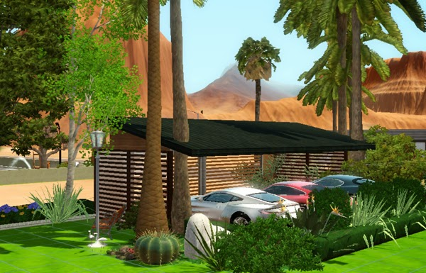 [LIVING DESIGN] WOODEN BOX HOUSE THE SIMS 3 parking