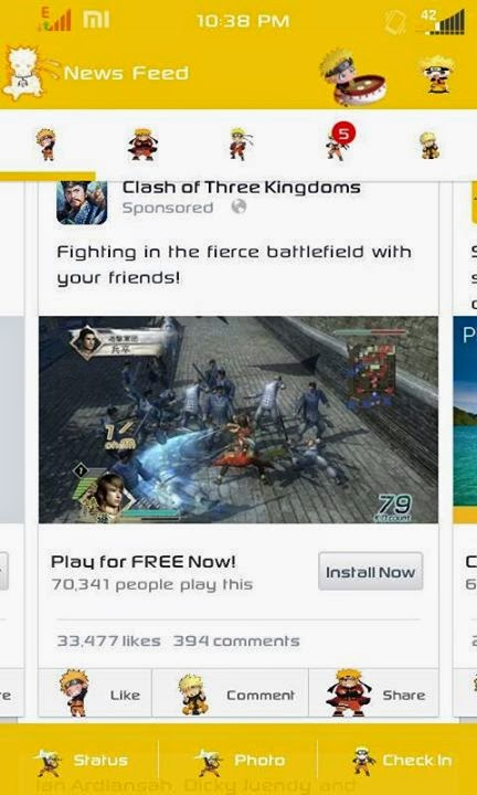 Facebook Mod Tema Naruto Apk Versi Terbaru di Android