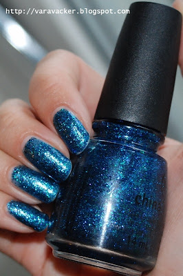 naglar, nails, nagellack, nail polsih, blått, blue, china galze, blå måndag