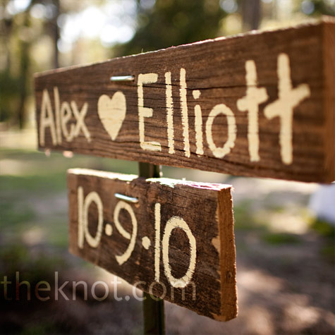 our wood pile to fine old barnboard pieces to make directional signs