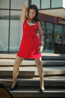 Nisha Kothari  Pictures in Red Short Dress ~ Celebs Next