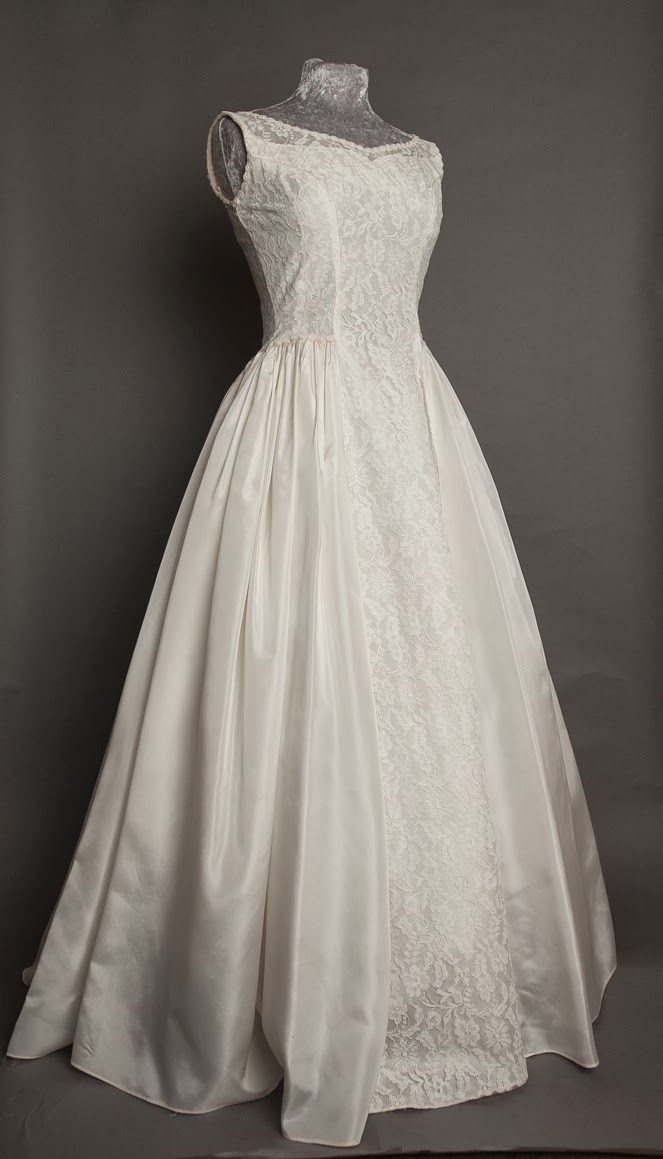 Original vintage 1950s lace wedding dress by Emma Domb, c Heavenly Vintage Brides
