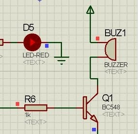 buzzer interfacing in proteus isis with 8051 microcontroller