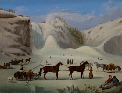 Le cône de glace, chutes Montmorency, Québec, Robert Todd