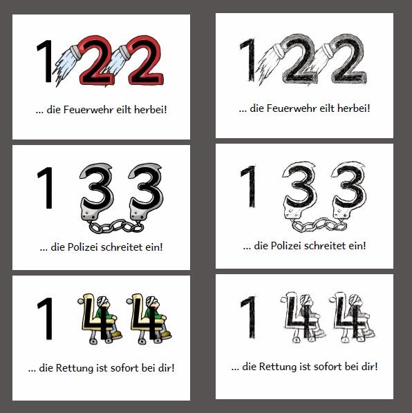 krabbelwiese (im Ruhemodus): Notrufnummern