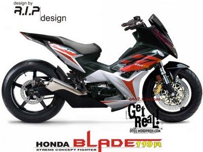 Gambar modifikasi motor Honda blade Terbaru Sporty Dan Paling Keren title=