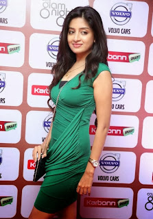Poonam Kaur Pictures in Green Short Dress at Celebrity Cricket League 2014 Get to Gether Party 0013