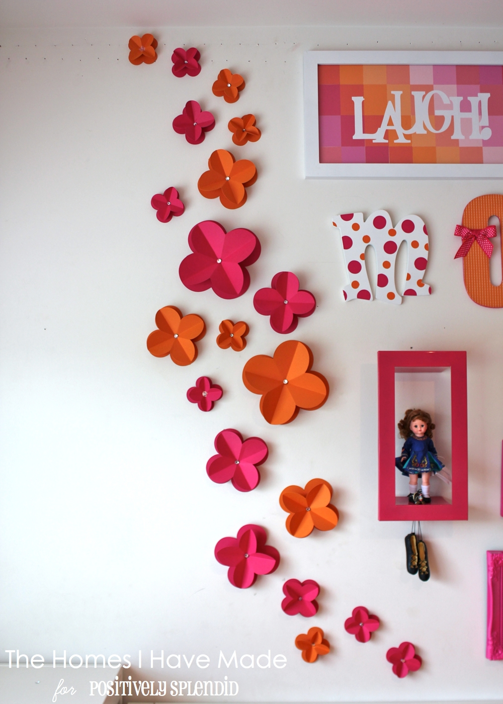 3d paper wall flowers positively splendid crafts sewing recipes and home decor Home decor crafts with paper