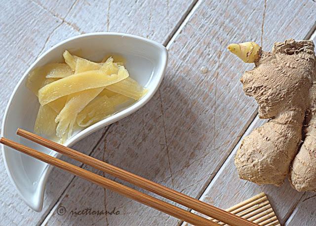 ricetta giapponese del Gari Zenzero in agrodolce