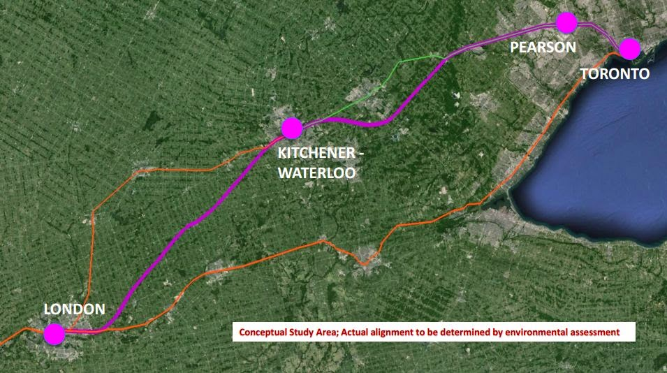 High Speed Rail London to Toronto