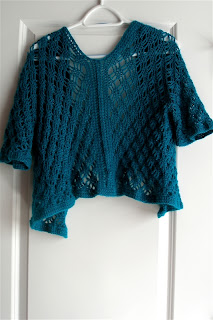 Rose Valley Cardigan finished, back