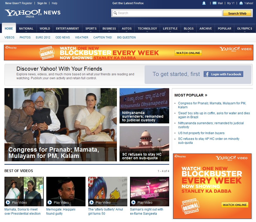 yahoo india news latest india news world news headlines