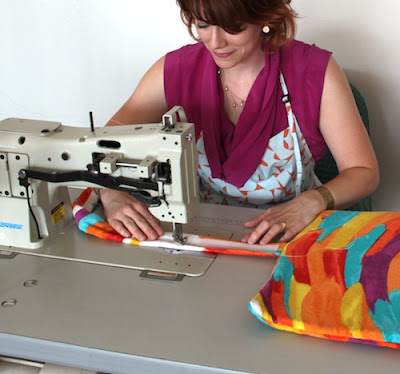 como hacer toallas tapizadas