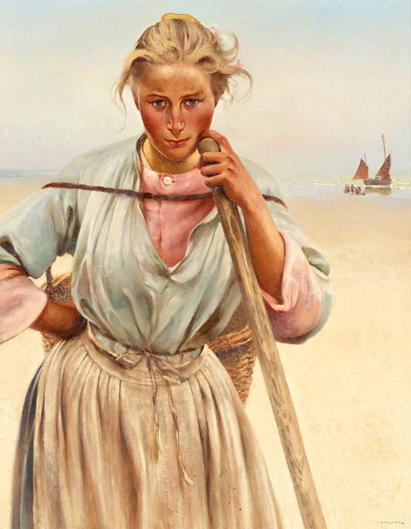 August Hagborg French fishergirl