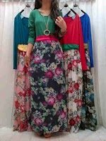 Maxi Spandex Combi Bunga SOLD OUT