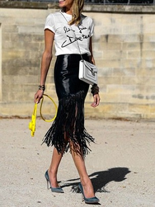 style next door - tassel skirt