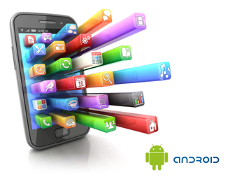 android-smartphone-with-applications-coming-out-of-the-screen