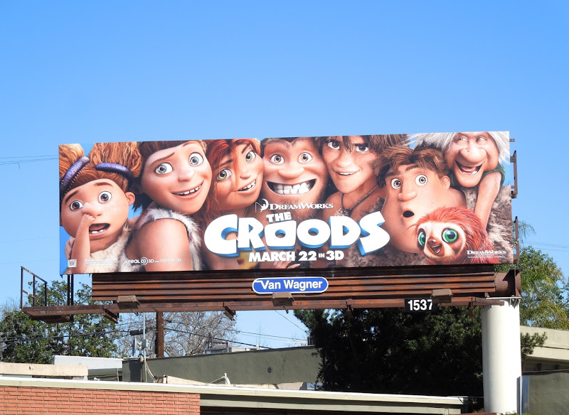 DreamWorks Croods movie billboard