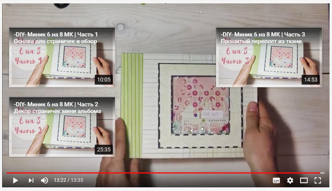 Видео - мк. 4 части. Мини альбом 15 на 20 см с шейкером, открывашками от Натальи Николайчук