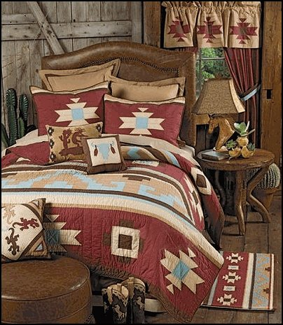 bedrooms mexican rustic style decor wolf theme bedrooms santa fe