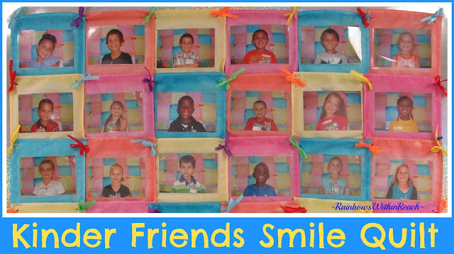 photo of: Kinder Friends Smile Quilt via RainbowsWithinReach Quilt RoundUP