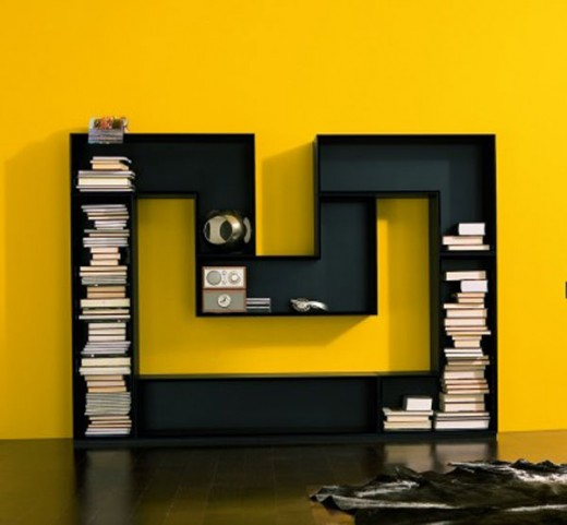 Creative and unique bookshelves designs for Interesting design ideas