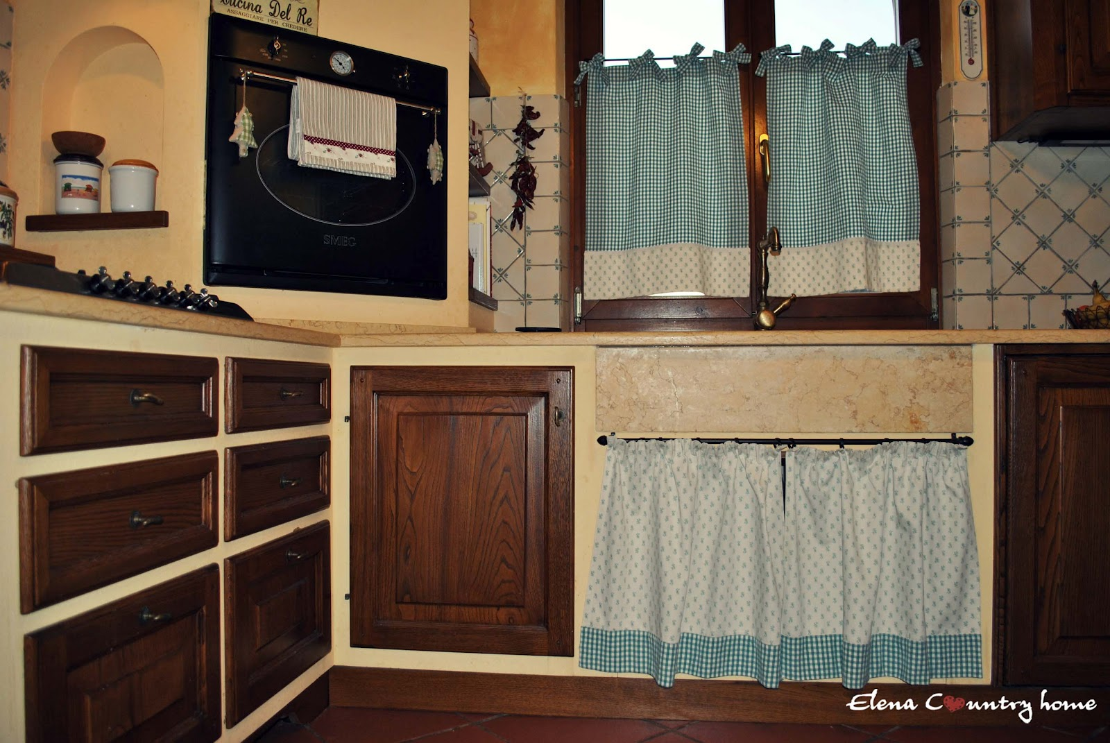 Elena country home la mia country cucina - Tendine per cucine in muratura ...