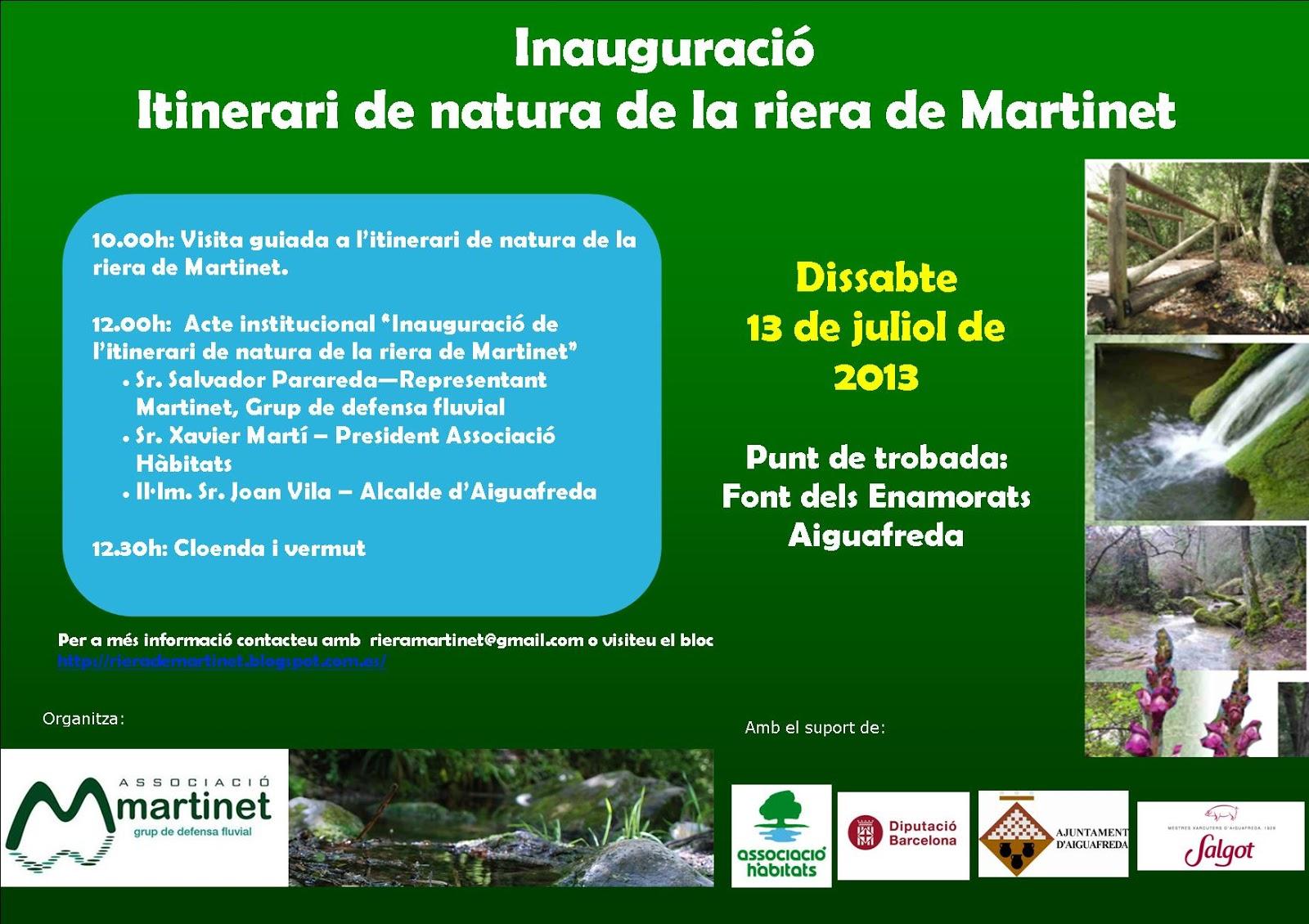 Inauguració itinerari riera de Martinet