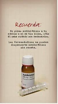 No solicite un antibiótico en la farmacia sin receta.