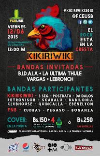 kikiriwiki usb 2015 bandas festival rock